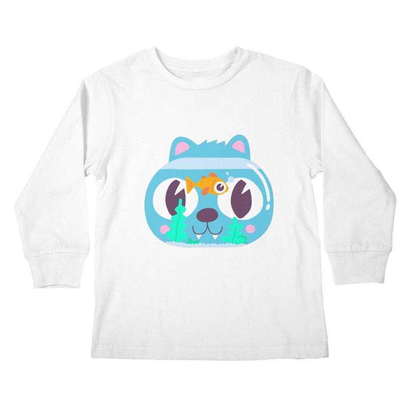 Cat & Fish Kids Longsleeve T-Shirt by La Boutique de Monsieur Dupont