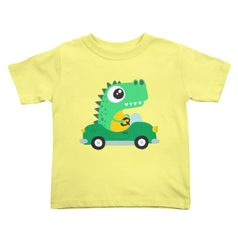 Dino Car Kids Toddler T-Shirt by La Boutique de Monsieur Dupont