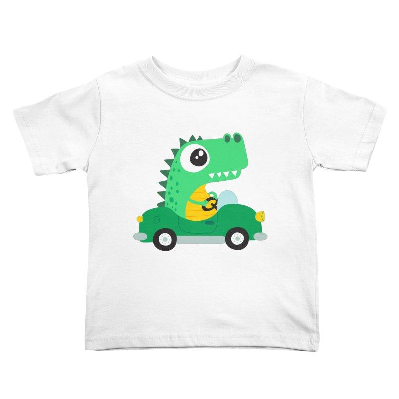 Dino Car Kids Toddler T-Shirt by La Boutique de Monsieur Dupont