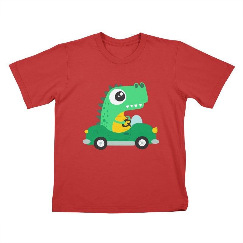 Dino Car Kids T-shirt by La Boutique de Monsieur Dupont