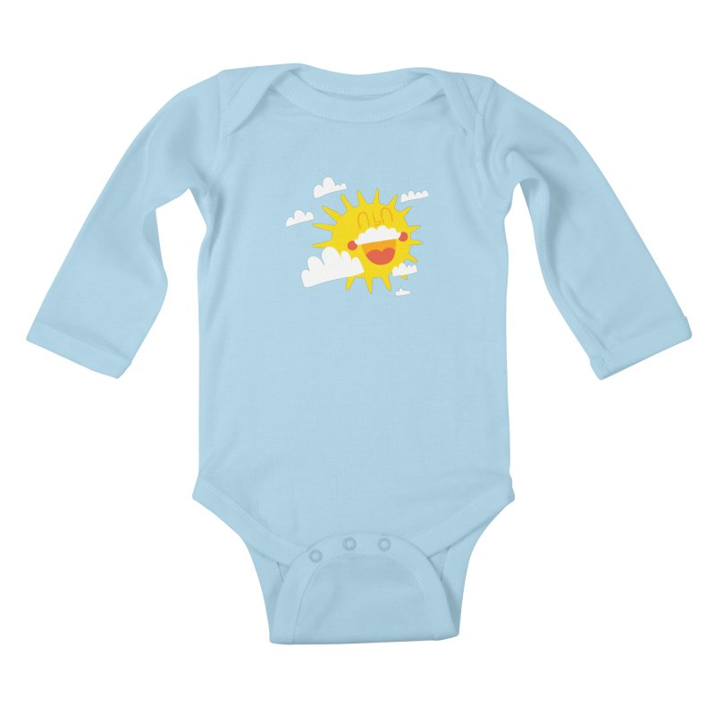 Soleil & Moustache Kids Baby Longsleeve Bodysuit by La Boutique de Monsieur Dupont