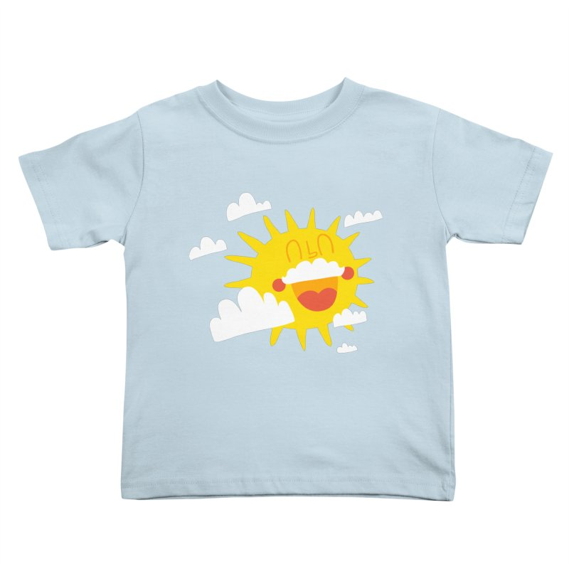 Soleil & Moustache Kids Toddler T-Shirt by La Boutique de Monsieur Dupont