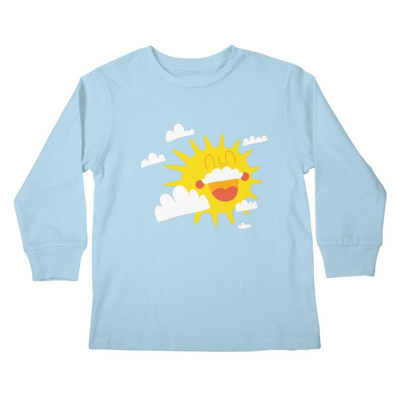 Soleil & Moustache Kids Longsleeve T-Shirt by La Boutique de Monsieur Dupont