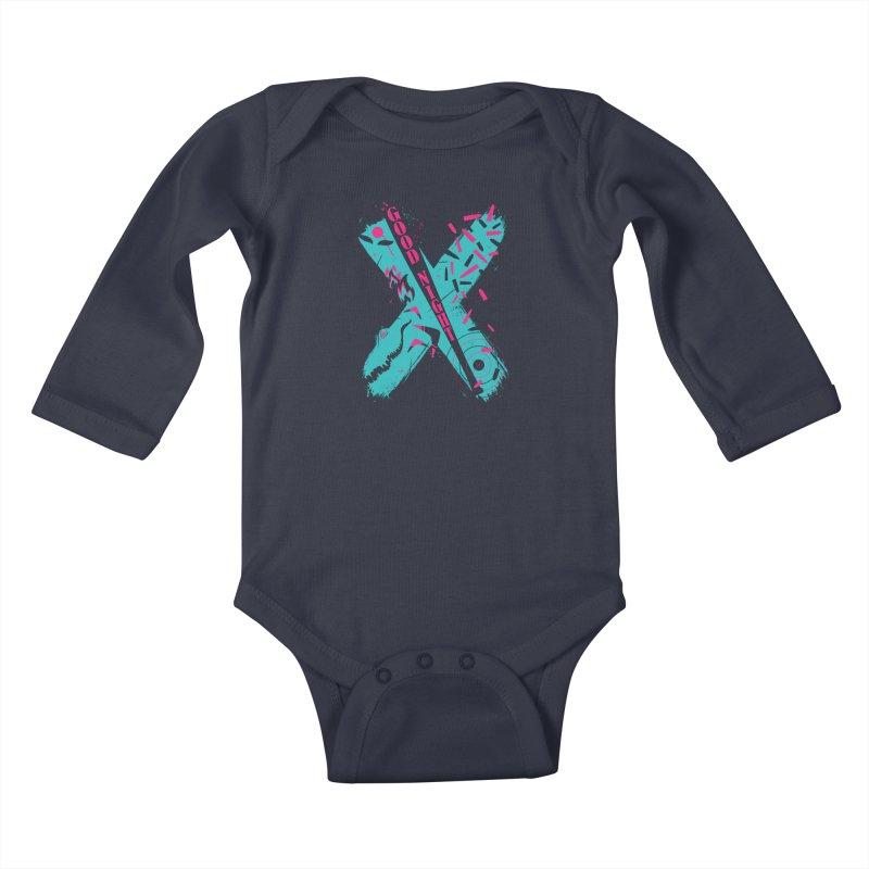 BATSHITCRAZY Kids Baby Longsleeve Bodysuit by monsieurgordon's Artist Shop