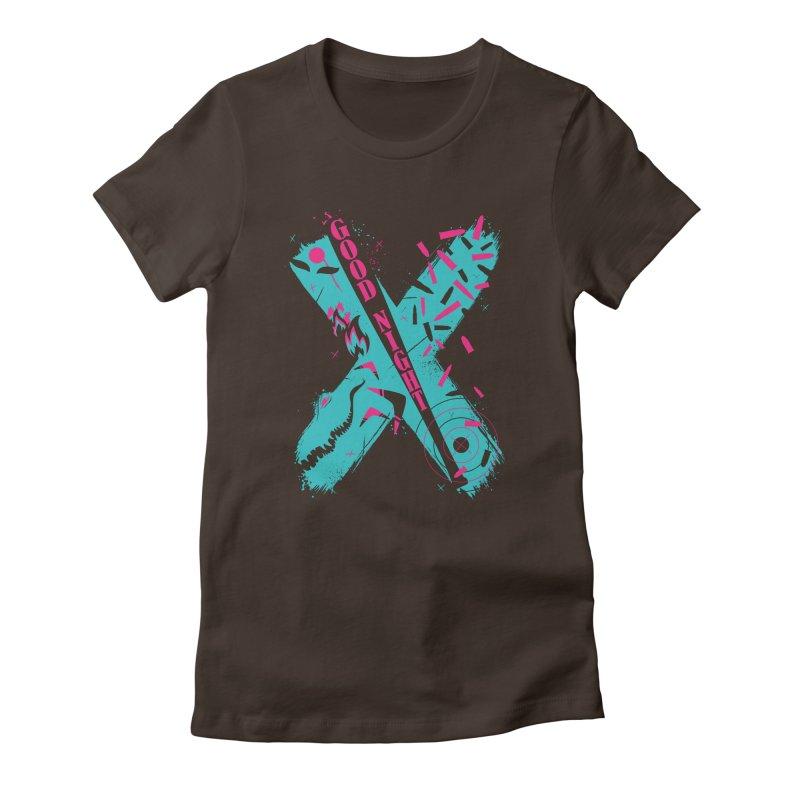 BATSHITCRAZY Women's Fitted T-Shirt by monsieurgordon's Artist Shop