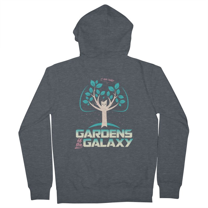 Gardens Of The Galaxy Men's French Terry Zip-Up Hoody by monsieurgordon's Artist Shop