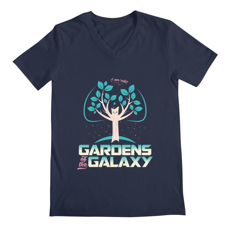 Gardens Of The Galaxy Men's Regular V-Neck by monsieurgordon's Artist Shop