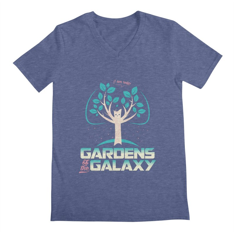 Gardens Of The Galaxy Men's Regular V-Neck by monsieurgordon's Artist Shop