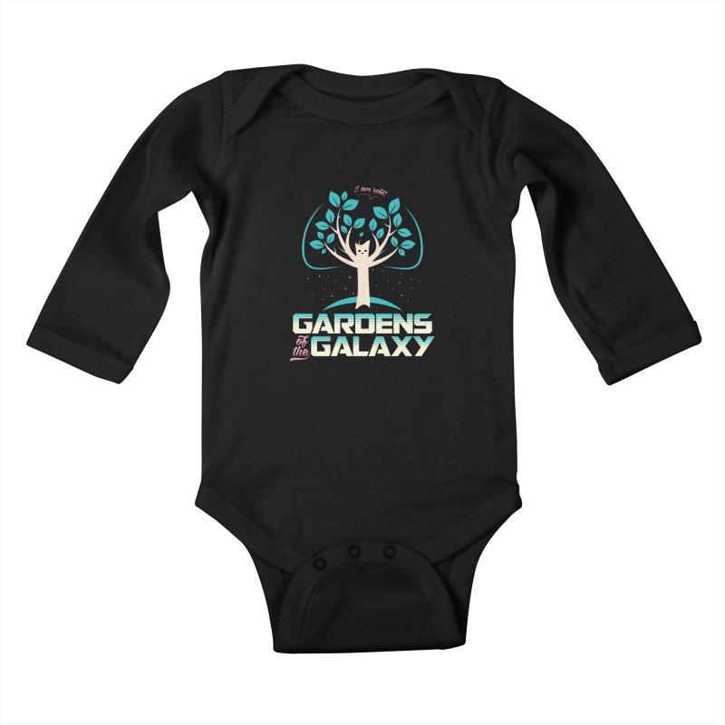 Gardens Of The Galaxy Kids Baby Longsleeve Bodysuit by monsieurgordon's Artist Shop