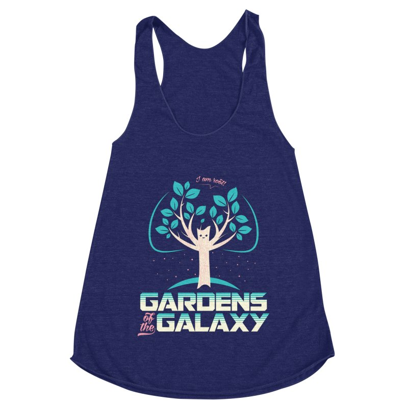 Gardens Of The Galaxy Women's Racerback Triblend Tank by monsieurgordon's Artist Shop