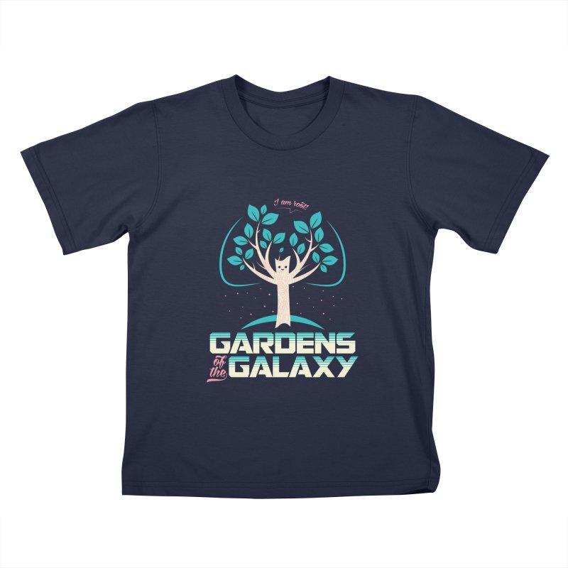 Gardens Of The Galaxy Kids T-Shirt by monsieurgordon's Artist Shop