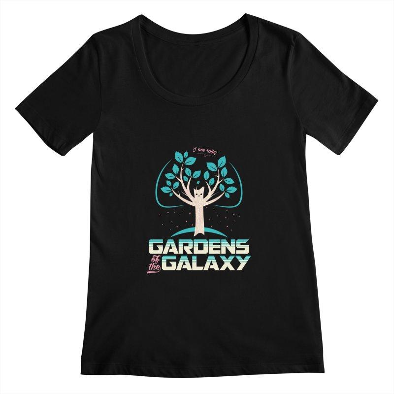 Gardens Of The Galaxy Women's Scoopneck by monsieurgordon's Artist Shop