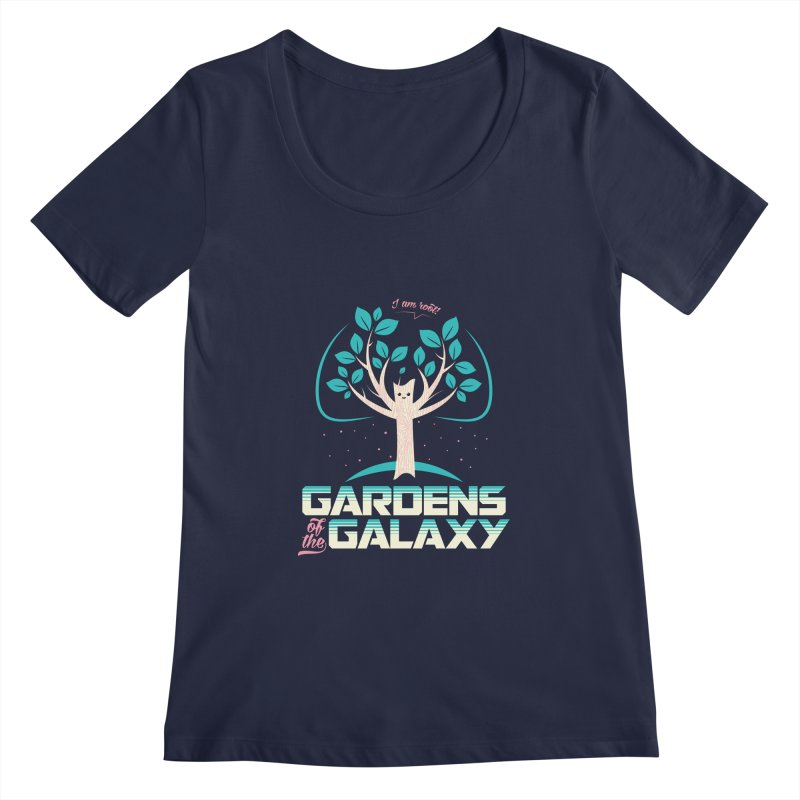Gardens Of The Galaxy Women's Regular Scoop Neck by monsieurgordon's Artist Shop