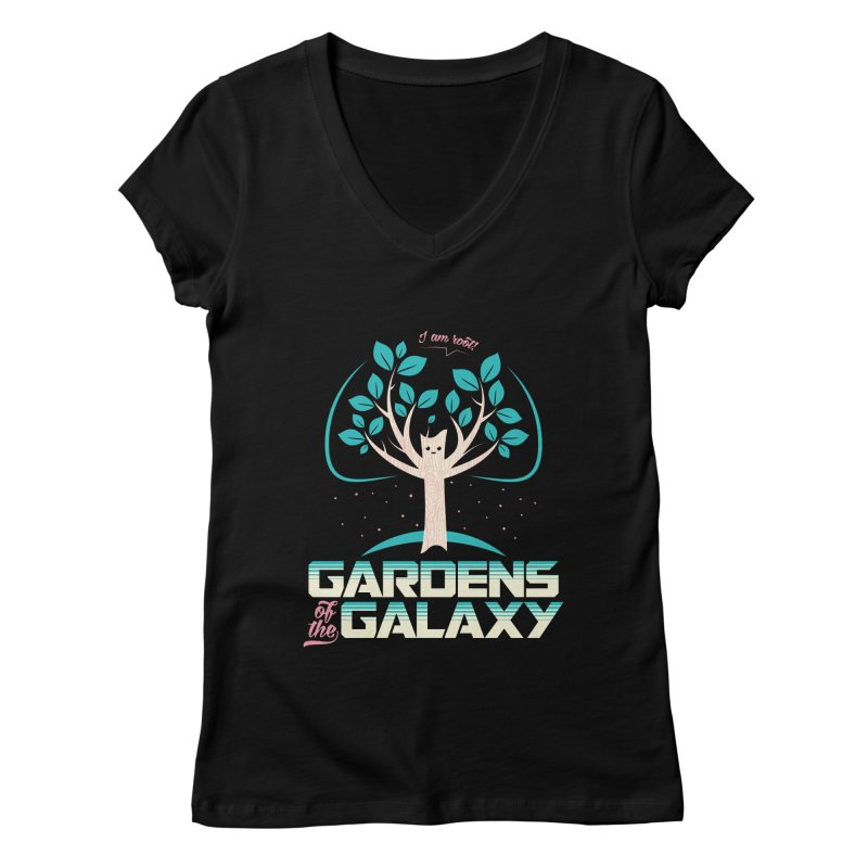 Gardens Of The Galaxy Women's V-Neck by monsieurgordon's Artist Shop