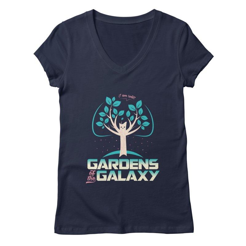 Gardens Of The Galaxy Women's Regular V-Neck by monsieurgordon's Artist Shop