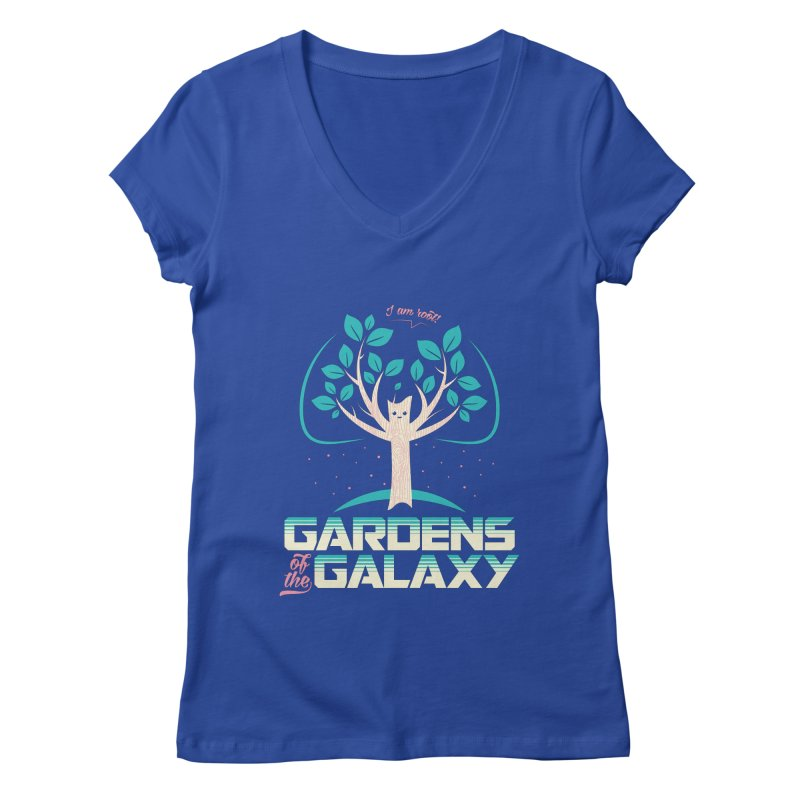 Gardens Of The Galaxy Women's Regular V-Neck by monsieurgordon's Artist Shop