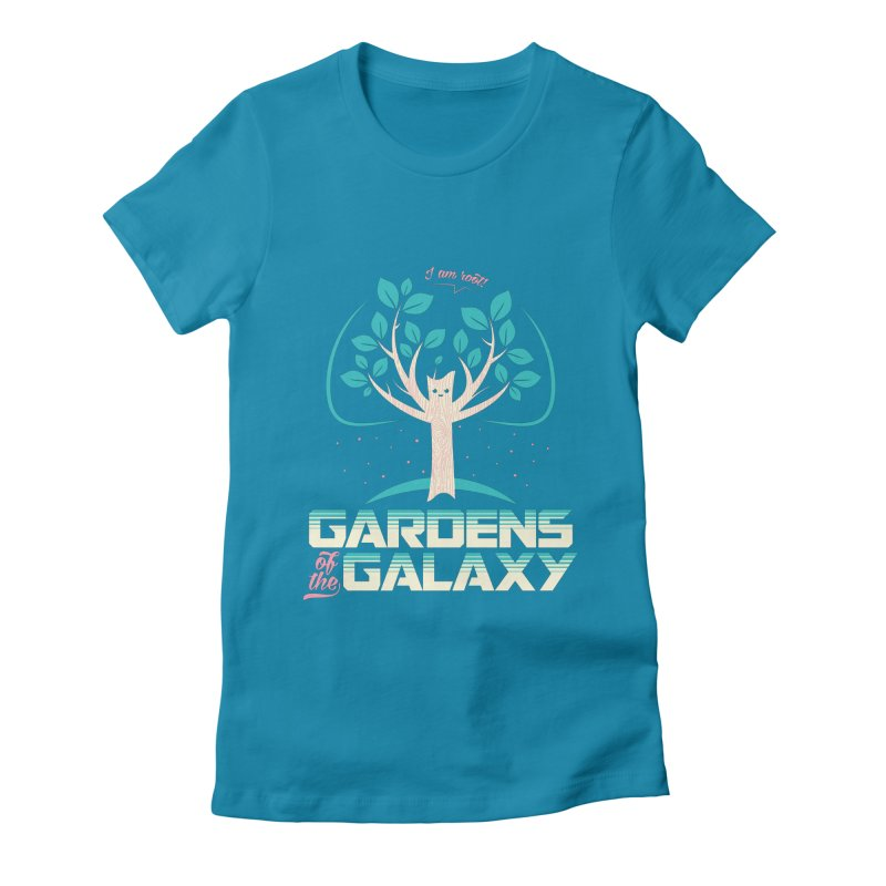 Gardens Of The Galaxy Women's Fitted T-Shirt by monsieurgordon's Artist Shop