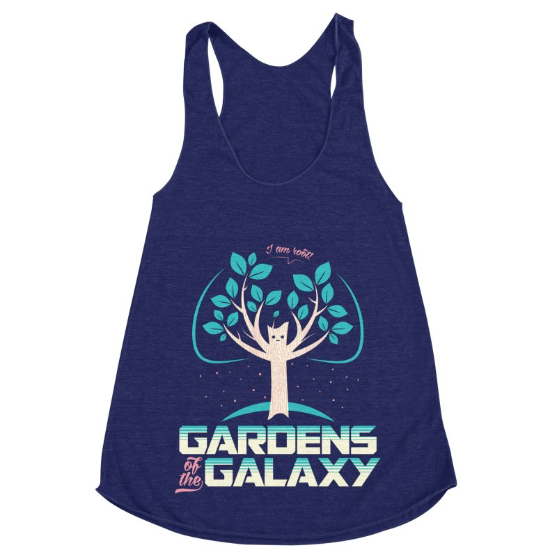 Gardens Of The Galaxy Women's Racerback Triblend Tank by monsieurgordon's Artist Shop