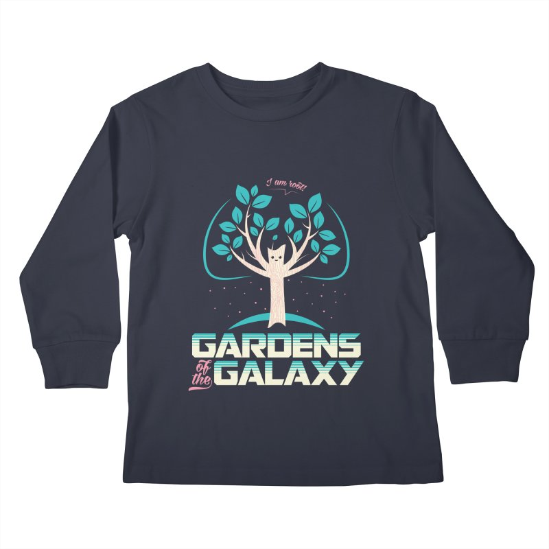 Gardens Of The Galaxy Kids Longsleeve T-Shirt by monsieurgordon's Artist Shop