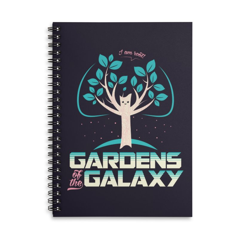 Gardens Of The Galaxy Accessories Lined Spiral Notebook by monsieurgordon's Artist Shop