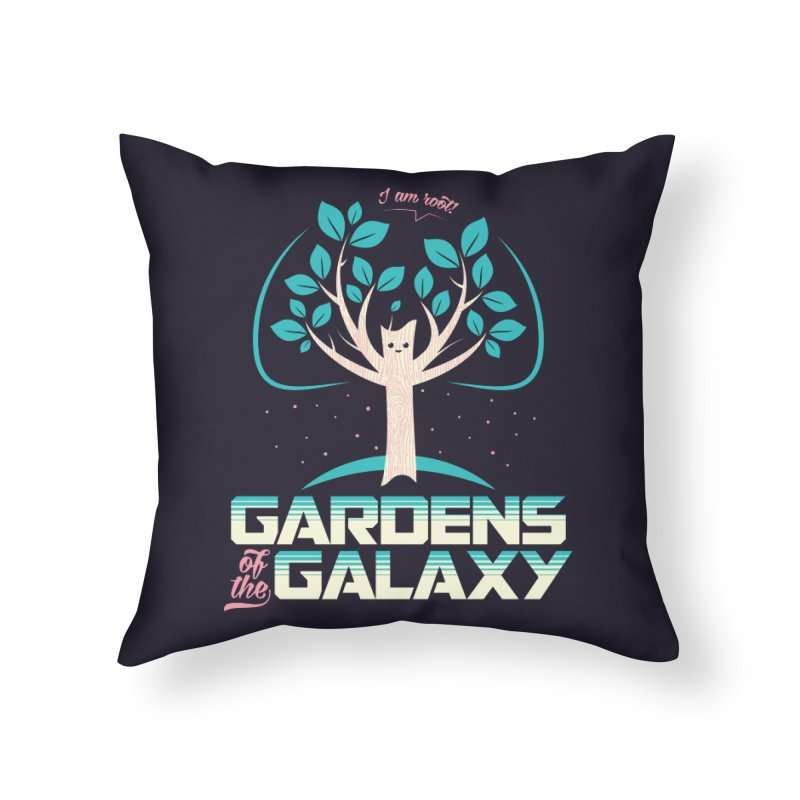 Gardens Of The Galaxy Home Throw Pillow by monsieurgordon's Artist Shop