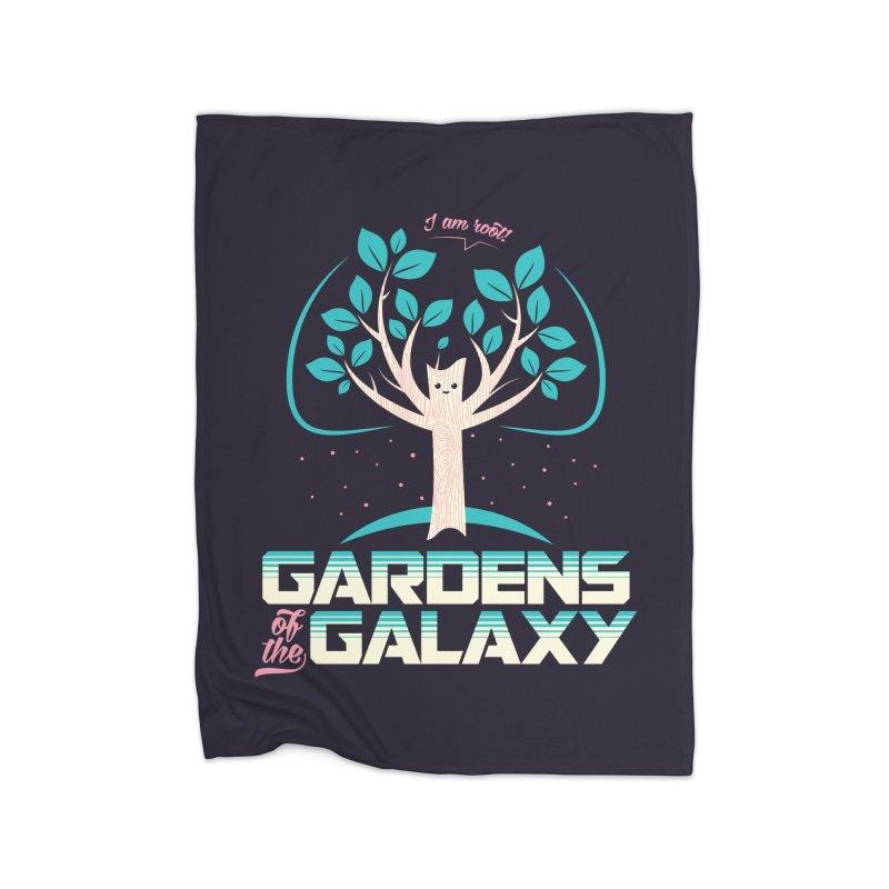 Gardens Of The Galaxy Home Fleece Blanket Blanket by monsieurgordon's Artist Shop