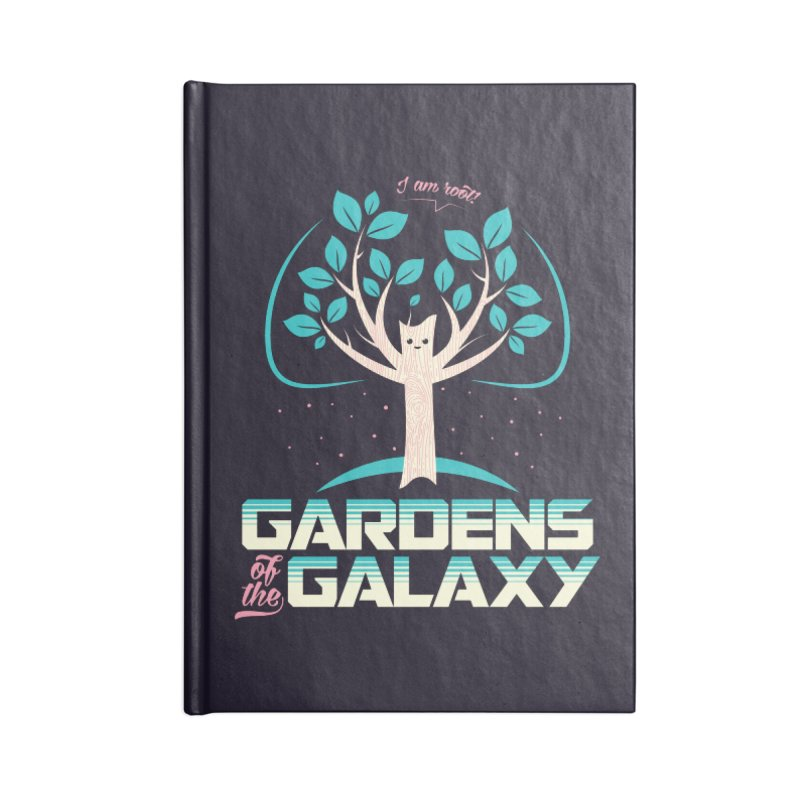 Gardens Of The Galaxy Accessories Lined Journal Notebook by monsieurgordon's Artist Shop