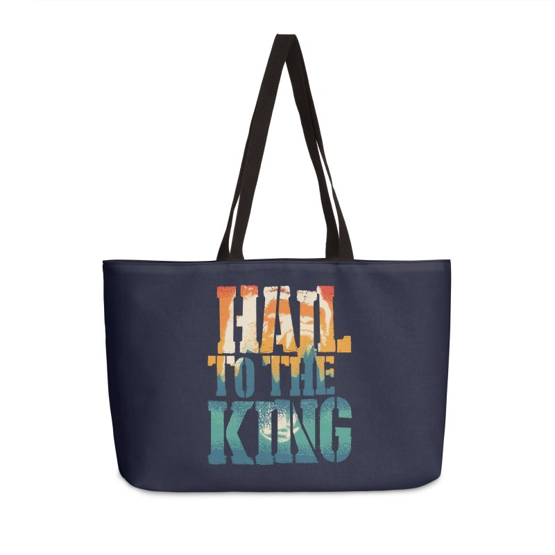 Hail To The King Accessories Weekender Bag Bag by monsieurgordon's Artist Shop