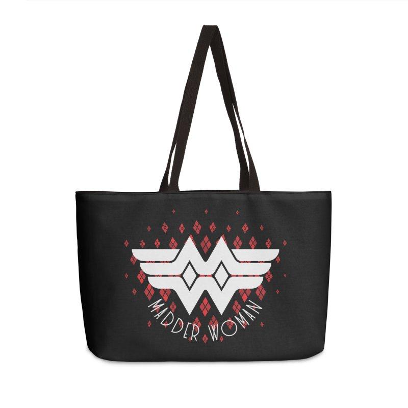 Madder Woman Accessories Weekender Bag Bag by monsieurgordon's Artist Shop