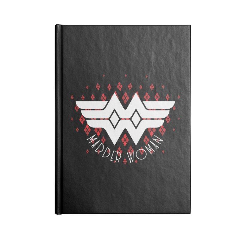 Madder Woman Accessories Lined Journal Notebook by monsieurgordon's Artist Shop