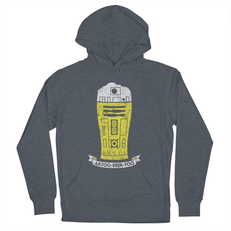 Artoo-Beer-Too Men's French Terry Pullover Hoody by monsieurgordon's Artist Shop