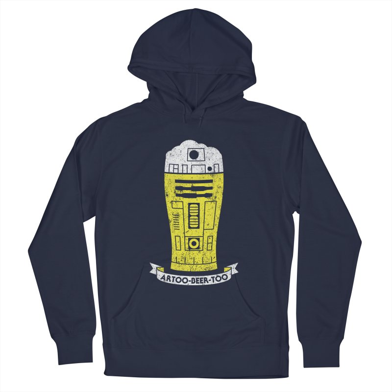 Artoo-Beer-Too Men's French Terry Pullover Hoody by monsieurgordon's Artist Shop