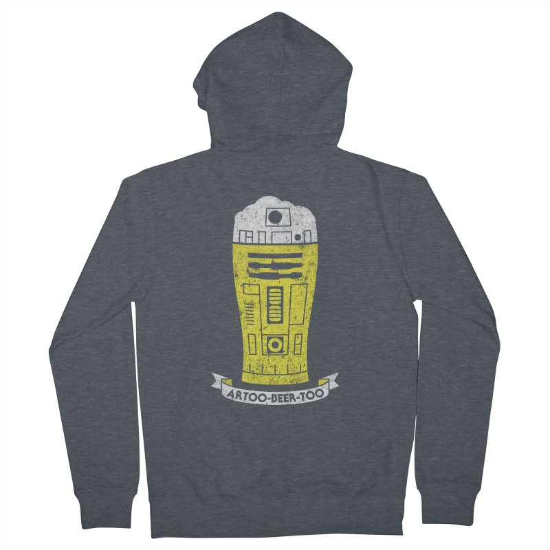 Artoo-Beer-Too Women's French Terry Zip-Up Hoody by monsieurgordon's Artist Shop