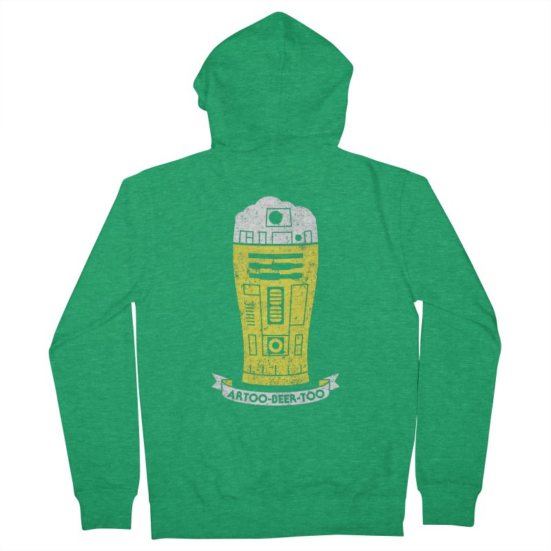 Artoo-Beer-Too Men's French Terry Zip-Up Hoody by monsieurgordon's Artist Shop