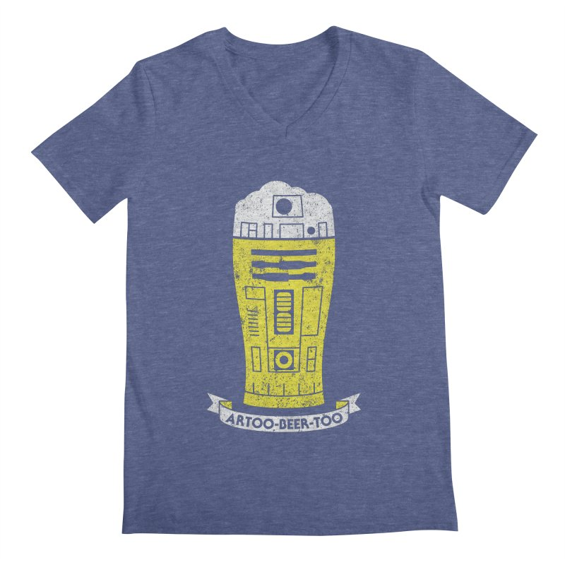 Artoo-Beer-Too Men's V-Neck by monsieurgordon's Artist Shop