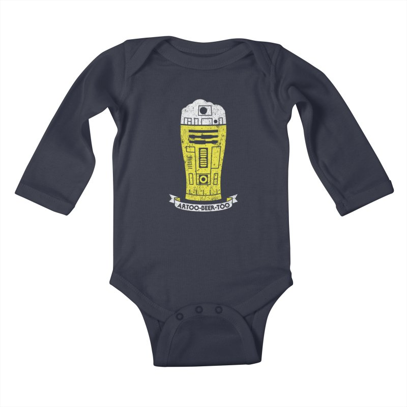 Artoo-Beer-Too Kids Baby Longsleeve Bodysuit by monsieurgordon's Artist Shop