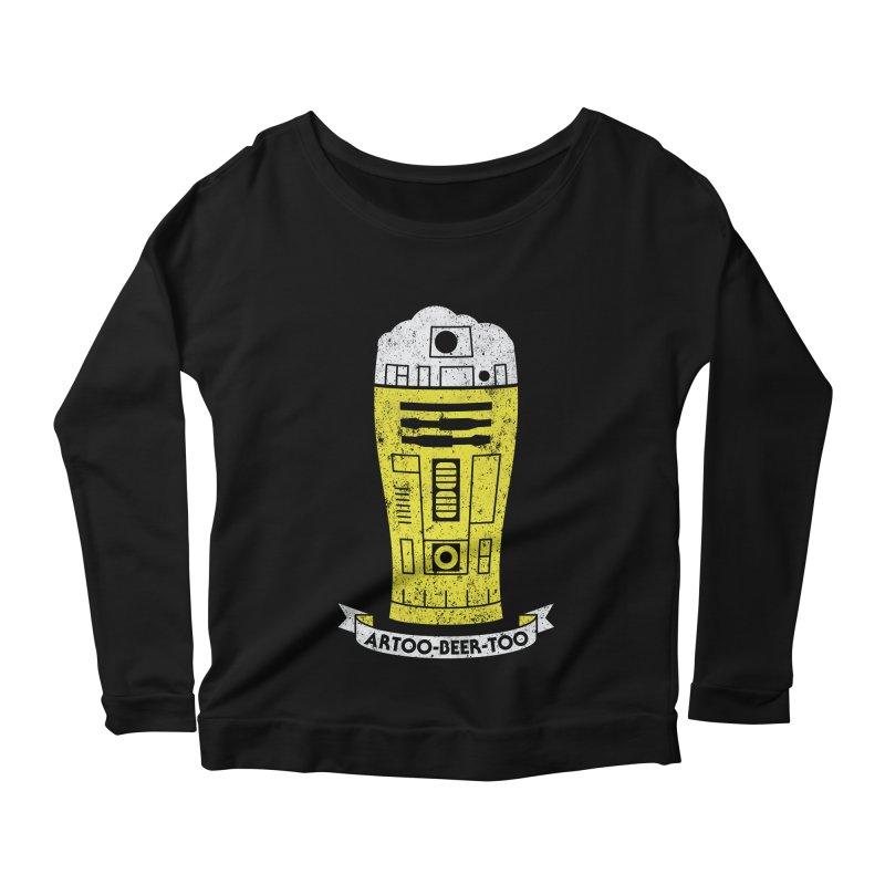 Artoo-Beer-Too Women's Longsleeve Scoopneck  by monsieurgordon's Artist Shop