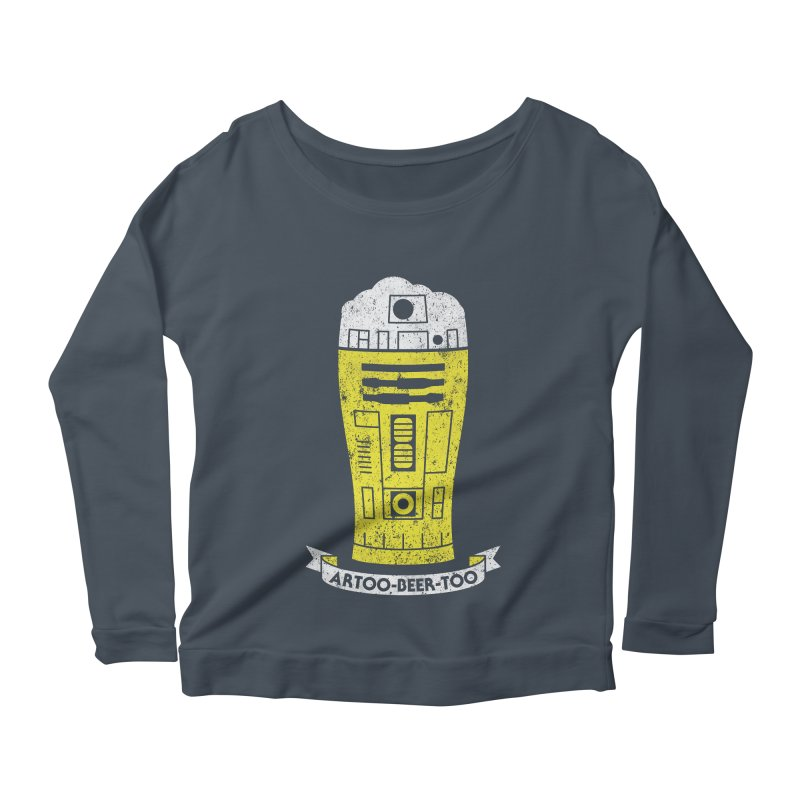 Artoo-Beer-Too Women's Scoop Neck Longsleeve T-Shirt by monsieurgordon's Artist Shop