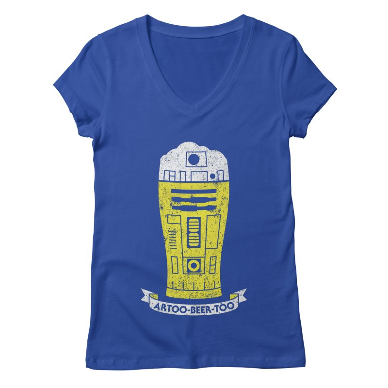 Artoo-Beer-Too Women's V-Neck by monsieurgordon's Artist Shop