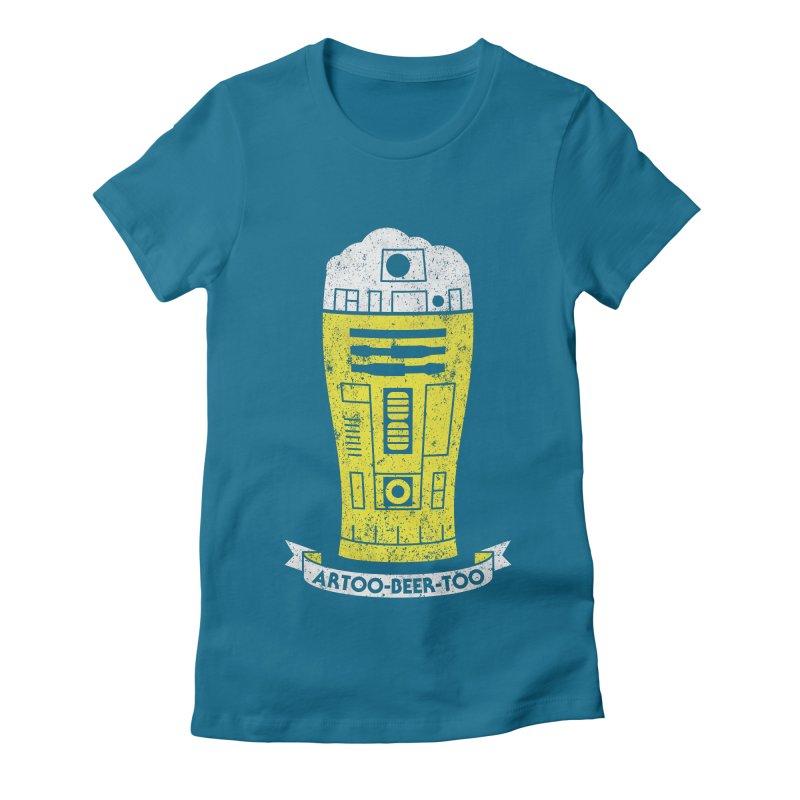 Artoo-Beer-Too Women's Fitted T-Shirt by monsieurgordon's Artist Shop