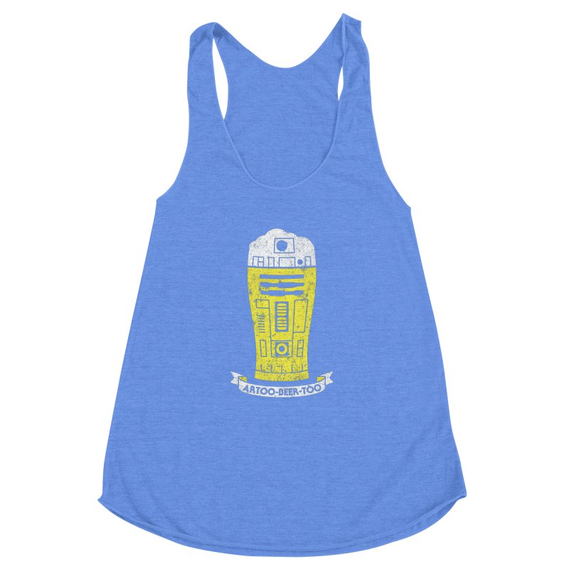 Artoo-Beer-Too Women's Racerback Triblend Tank by monsieurgordon's Artist Shop