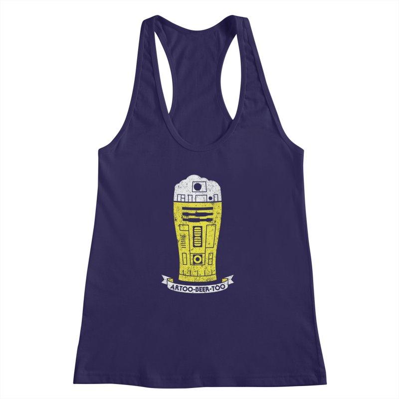Artoo-Beer-Too Women's Racerback Tank by monsieurgordon's Artist Shop