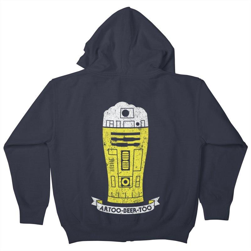 Artoo-Beer-Too Kids Zip-Up Hoody by monsieurgordon's Artist Shop