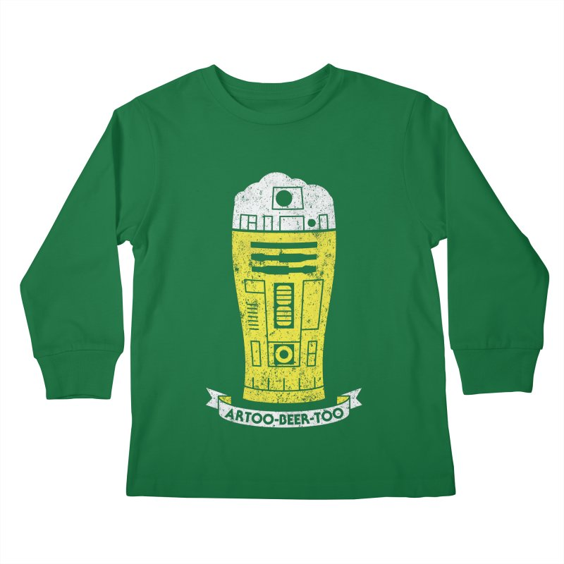Artoo-Beer-Too Kids Longsleeve T-Shirt by monsieurgordon's Artist Shop