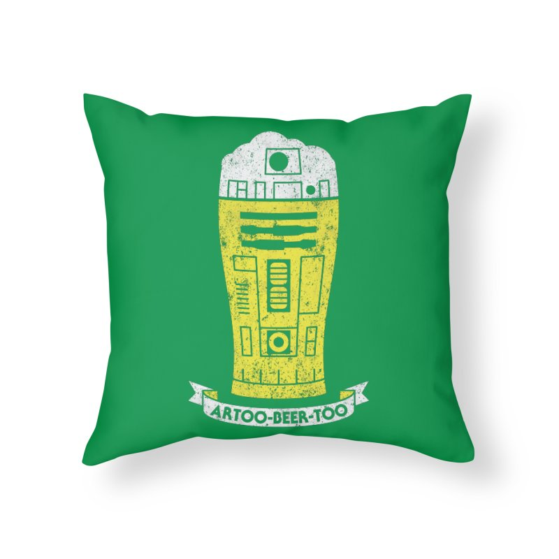 Artoo-Beer-Too Home Throw Pillow by monsieurgordon's Artist Shop