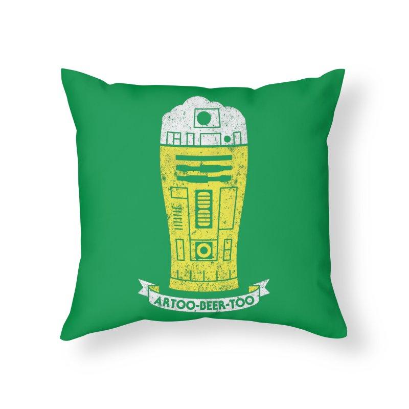Artoo-Beer-Too Home Throw Pillow by monsieurgordon's Artist Shop