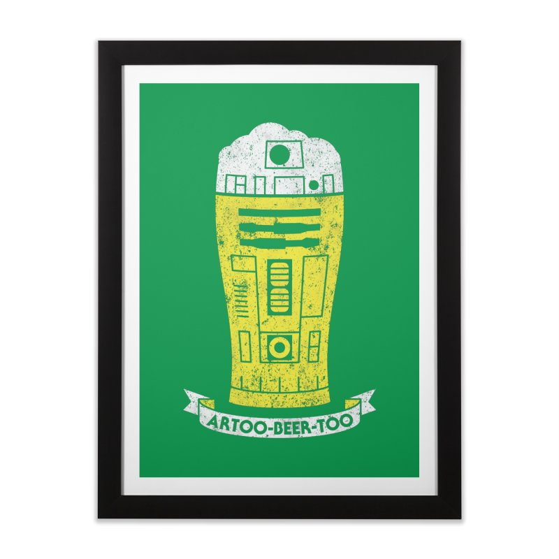 Artoo-Beer-Too Home Framed Fine Art Print by monsieurgordon's Artist Shop