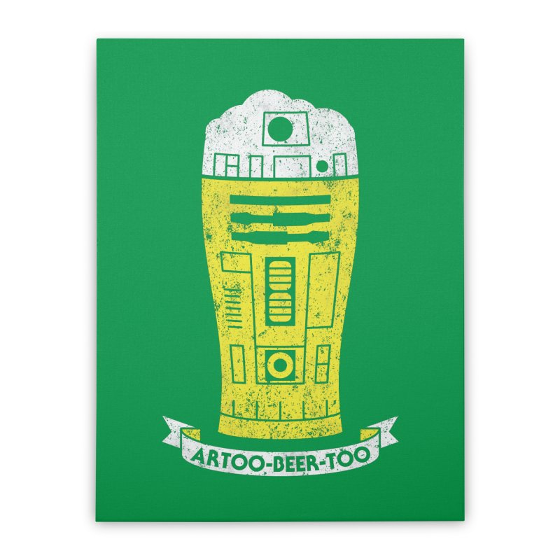 Artoo-Beer-Too Home Stretched Canvas by monsieurgordon's Artist Shop