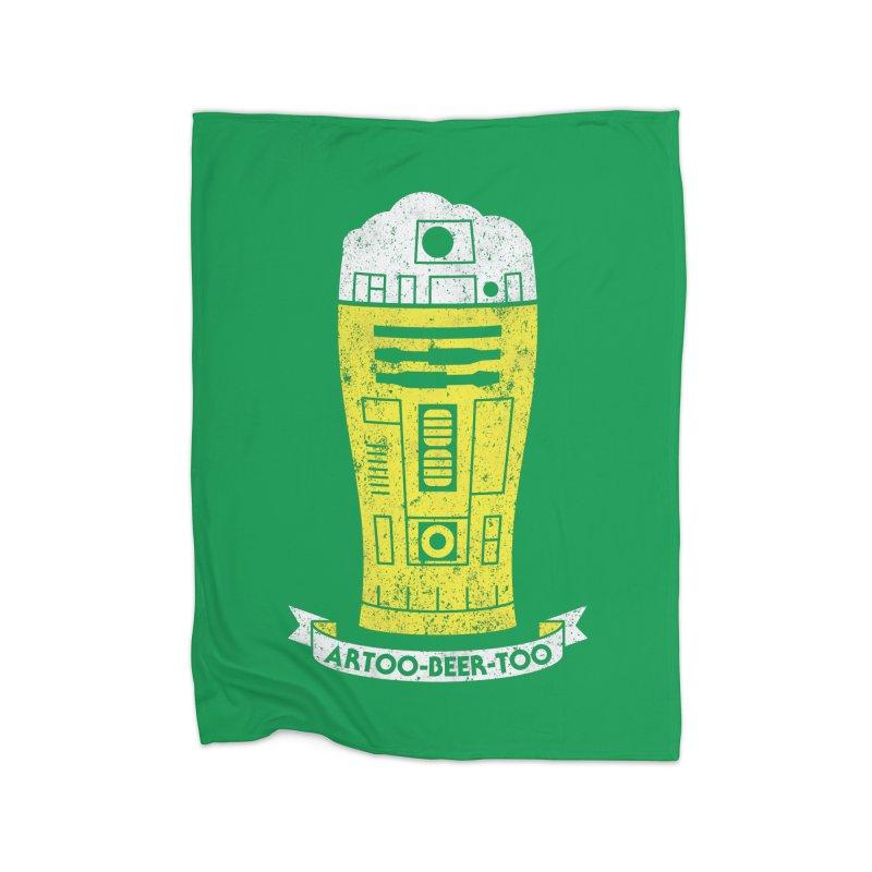 Artoo-Beer-Too Home Fleece Blanket Blanket by monsieurgordon's Artist Shop
