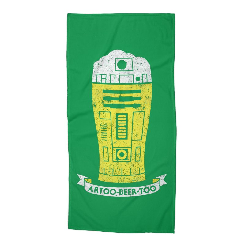 Artoo-Beer-Too Accessories Beach Towel by monsieurgordon's Artist Shop